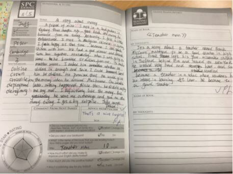 先生との交換日記でいつの間にか圧倒的に文法力がつきます。