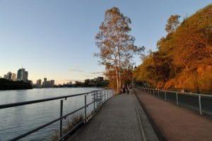 ブリスベンシティを眺めながら散歩も出来ます。