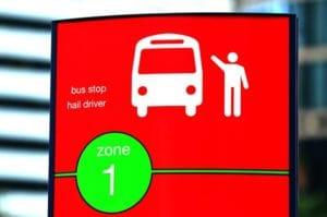 バス停はあちこちにあって超便利です!