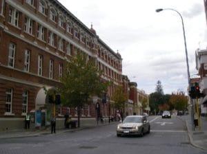 市内にはヨーロッパ調の建物が多いです。2