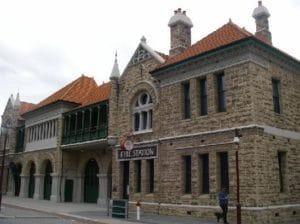 市内にはヨーロッパ調の建物が多いです。3