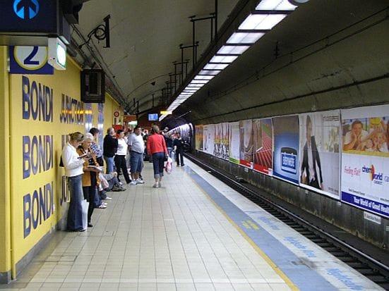 シドニーでは地下鉄が便利!これはビーチへ行く路線