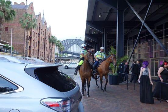 警察官が馬でパトロール。東京では絶対に見られない光景(笑