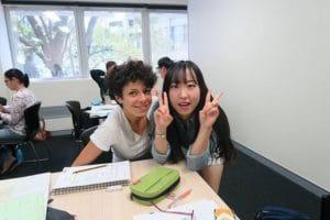 楽しそうに授業を受けています。
