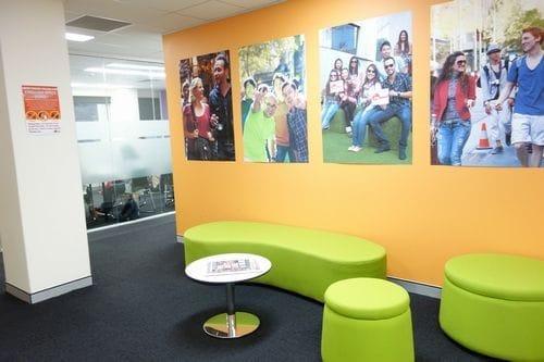 Impact Brisbane(インパクト)の校内休憩スペース