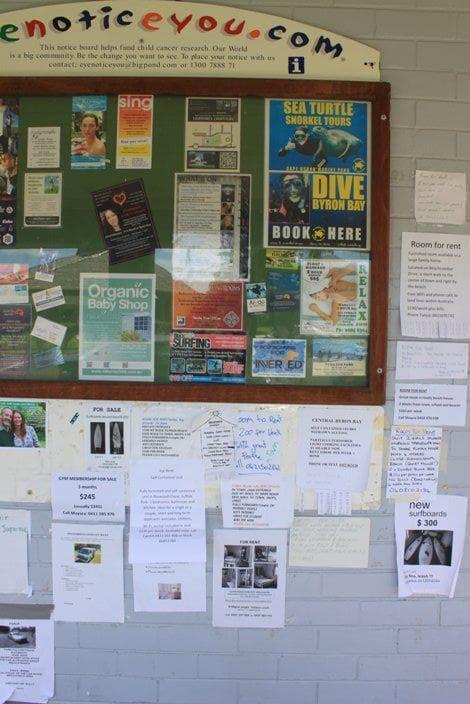 学生がよく利用する学校の掲示板