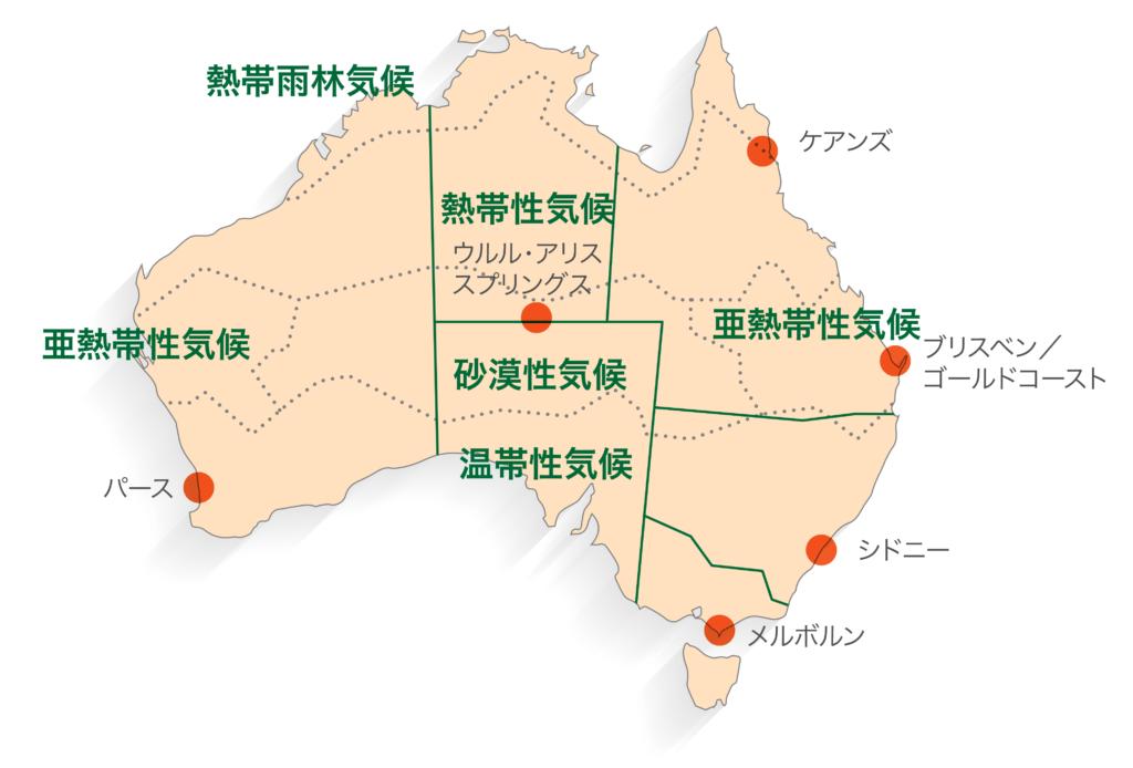 オーストラリアの気候帯