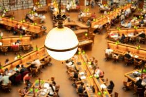 メルボルンの州立図書館