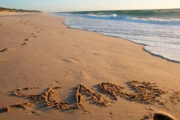 美しいビーチエリア