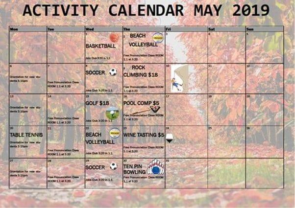 ミルナーでは、毎週アクティビティを開催