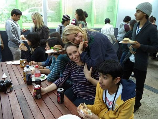 ナビタスイングリッシュ パースは世界各国からの語学留学生たちで国際色豊か