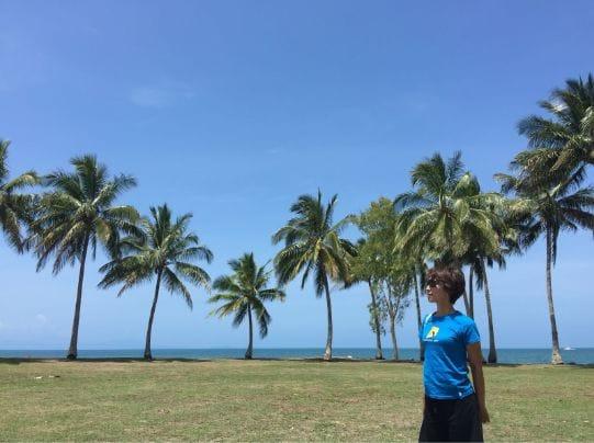 ビーチでは紫外線も多めです。