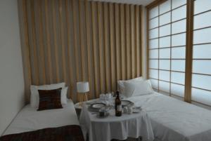 この部屋もレプリカ。KYOTO(京都)という名前のお部屋