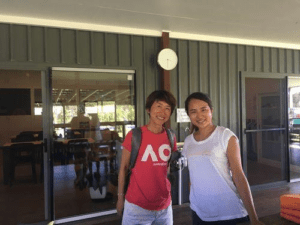 ボランティアの日本人留学生が来てお手伝いしていました。