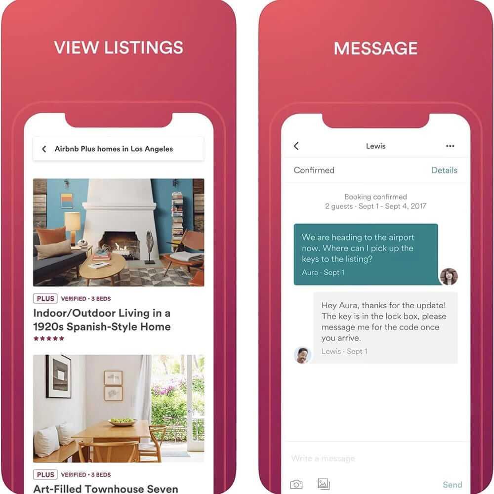 Airbnbのスクリーンショット