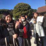 アクティブガールズと明治神宮へお参りしてきました。